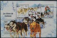 Niger 2015 /Fauna - Sledge Dogs / 4v minisheet MNH