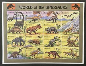 TANZANIA WORLD OF DINOSAURS STAMPS 1994 MNH PREHISTORIC ANIMALS BRONTOSAURUS