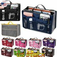 US Insert Handbag Organiser Purse Liner Organizer Storage Bag Tidy Travel Bag