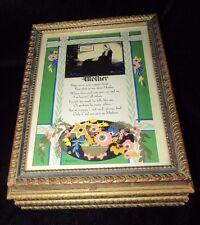 Vintage Wood Victorian Hanky Jewelry/Make-up/Keepsake Box - Mother Poem - 1930