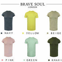 "Brave Soul Mens T Shirt Long Line Drop Tail ""Harrel"""