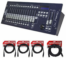 Chauvet DJ OBEY 70 Light/Fog DMX Lighting Controller+(3) 10ft.+25ft. DMX Cables