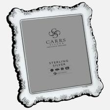 """CARRS - Traditional Sterling Silver Photo Frame With Grey Velvet Back - 5"""""""