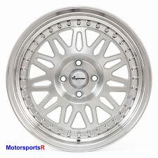 VarrsToen DS12 Wheels 15 x8 +25 Silver Step Lip Rims 4x100 Stance Honda Civic SI