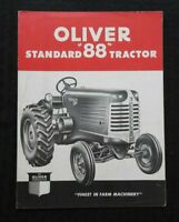 "1948 ""THE OLIVER STANDARD 88 TRACTOR"" SALES BROCHURE VERY NICE SHAPE RARE"