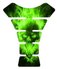 Exploding  Skull Green Motorcycle Gel Gas tank pad tankpad protector Guard Decal