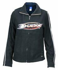 Reebok NHL Women's Anaheim Ducks Fleece Zip Up Jacket, Black