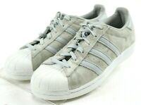 Adidas Superstar $100 Women's Casual Sneakers Size 7.5 Gray Suede