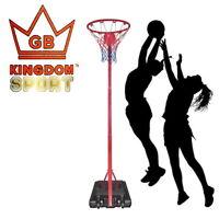 Kingdom GB Active Pro Freestanding Adjustable Precision Netball Stand & Hoop