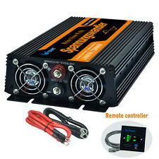 1000W/2000W Power Inverter DC 12V  AC 230V 240V Pure Sine Wave Remote Controller