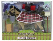 FLOCCATO giocattolo cavallo modello Set con Accessori Equitazione ~ beige