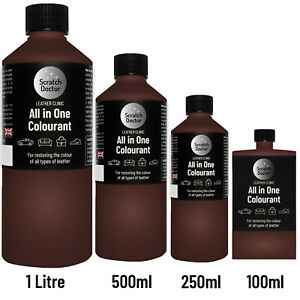 ALL IN ONE CHOCOLATE BROWN Leather Colourant. Repair Recolour. Dye Stain Paint