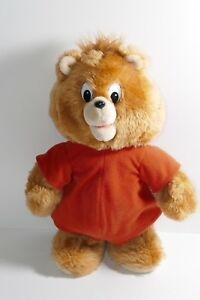 """Worlds of Wonder 1985 Little Boppers Teddy Ruxpin 13"""" Battery Operated Bear"""