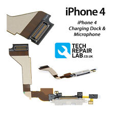 FOR iPhone 4 Replacement 30 Pin Charging Dock/Port Assembly + Microphone - WHITE