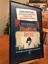 "BIG 11X17 FRAMED DAVID HENTSCHEL ""STARTLING MUSIC"" (RINGO) LP ALBUM CD PROMO AD"