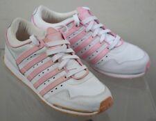K-SWISS White Pink Gorzell Low Trainers Women's Size 7 UK