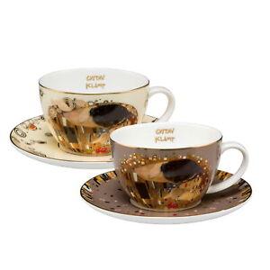 "ARTIS ORBIS - Gustav Klimt ""Der Kuss - Set Teetassen"" Goebel Porzellan 67012511"