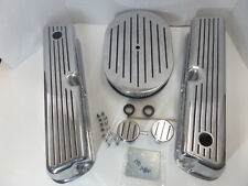 SB Ford 302 351W Polished Ball Mill / blk Alum Valve Covers Air Cleaner PVC  Kit