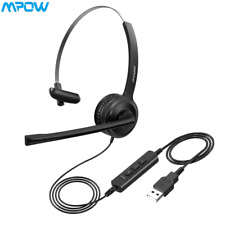 Mpow 323 Stereo Computer Headsets 3.5mm/USB Headphone with Mic For PC Laptop US