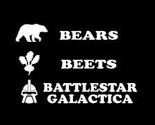 Decal The Office - BEARS BEETS BATTLESTAR GALACTICA BATTLE STAR JIM DWIGHT