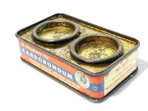 Vintage Valve Carborundum Grease Mixed Silicon Carbide Twin Tin MANCAVE