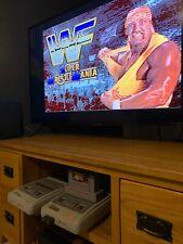 SNES - WWF Wrestle-mania Cart Super Nintendo Retro Game Very Rare