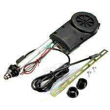 Car Electric Aerial Radio Automatic Booster Power Antenna Kit Black SH B3U7 R4F8