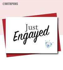 GAY ENGAGEMENT WEDDING CARDS SAME SEX Comedy Funny Banter Congratulations
