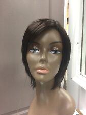 Jon Renau KALEY Lace Front Short Shag Wig,Medium Dark Brown + Free Wig Cap