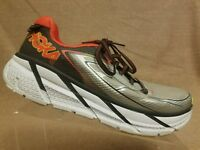 Hoka One One Clifton 3 Men Gray Red Sport Athletic Running Training Shoes Size 9
