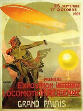 ART PRINT POSTER ADVERT EVENT AIRSHOW AIRSHIP PLANE BALLOON FRANCE NOFL1609