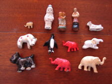12 Vintage Small Figures - Dogs - Elephants - People & More - Putz - L@@K