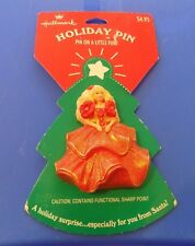 1995 Vintage Hallmark Barbie Holiday Pin With Original Packaging