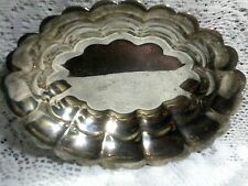 Oneida Silverplated Scalloped Edge Pedestal Bowl 8 L By 6 Ht 4 W,Post-1940