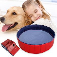 Foldable Dog Paddling Pool Pet Puppy Swimming Pool Bathing Washer Tub Kid PVC