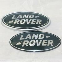 New OEM Land Rover Defender Green Silver Supercharged Oval Grill Boot Badge Set
