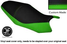 LIGHT GREEN BLACK VINYL CUSTOM FITS KAWASAKI ER6N ER6F 650 09-11 DUAL SEAT COVER