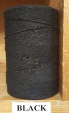 Rug Warp - Single 1/2 lb Tube - 8/4 Polyester - Color Black