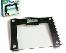 Talking Bathroom Weight Scale Extra Wide Bath Tempered Glass Accurate 550lbs NEW