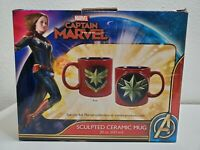 Captain Marvel 20 Oz 3D Sculpted Ceramic Mug Cup By Vandor Products