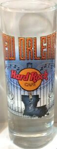 "Hard Rock Cafe NEW ORLEANS 2004 City Tee T-Shirt 4"" SHOT GLASS Cordial BARWARE"