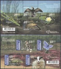 Netherlands 2005 Birds/Fish/Butterfly/Sheep/Insects/Lizard/Nature 2 x m/s n35107