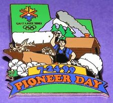 SALT LAKE CITY 2002 Olympic Collectible Holiday Pin - Pioneer Day 7/24/99 LE#