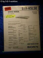 Sony Service Manual STR KSL50 Home Theater System (#4688)