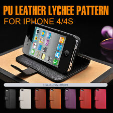 Top Quality Leather Flip Cover Wallet Pattern For iPhone 4/4S