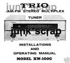 TRIO KW-100G AM/FM Stereo Multiplex Tuner Manual