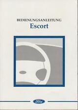 FORD ESCORT Betriebsanleitung 1996 Bedienungsanleitung Handbuch  MK7  BA