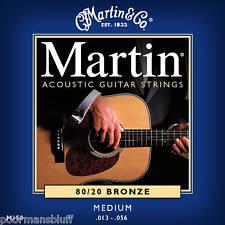 LOT of 4 MARTIN MED BRONZE ACOUSTIC GUITAR STRING SETS