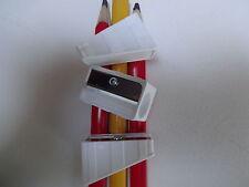 10 Spitzer für Zimmermannsbleistifte Anspitzer weiß f große Baustifte Bleistift