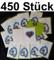450x Postkarten Geburtstagskarten Kuvert Schaf Bobbl Liebe Love Lebkuchenherz